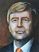 """Koning Willem Alexander"" Size 60-80 cm. Acryllic paint on canvas"