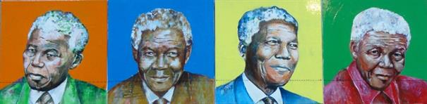 """Mandela"" size 60-240 cm  mixed media on canvas"